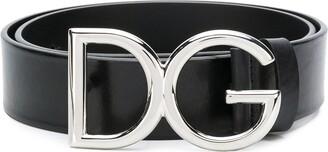 Dolce & Gabbana Monogram Logo Buckle Belt