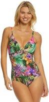Jantzen Floral Tropical One Piece Swimsuit 8167651