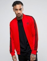 adidas Superstar Track Jacket In Red BK5918