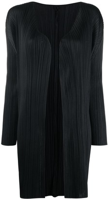 Issey Miyake Ribbed Open Front Coat