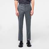 Paul Smith Men's Slim-Fit Grey Marl Wool Flannel Trousers