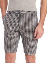 7 For All Mankind Gingham Print Chino Shorts