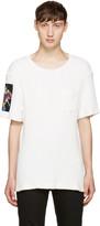Christian Dada White Flower Patch T-Shirt