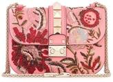 Valentino Garavani Lock Small embroidered shoulder bag