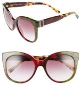 Burberry Women's 55Mm Gradient Cat Eye Sunglasses - Bordeaux