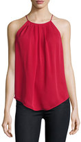 Joie Amarey Silk Tank Top, Ruby