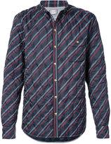 Moncler Gamme Bleu striped quilted shirt