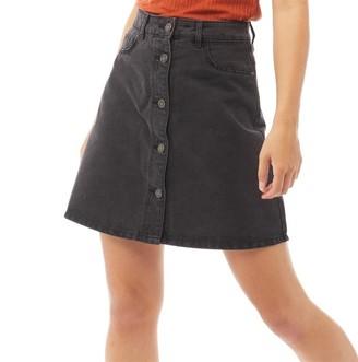 Noisy May Womens Sunny Short Denim Skater Skirt Black
