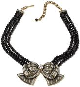 "Heidi Daus Bow Chance"" Beaded Crystal Drop Necklace"