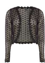Izabel London **Izabel London Black Lace Detail Cardigan