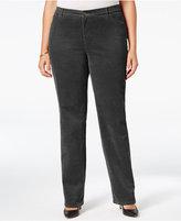 Charter Club Plus Size Lexington Tummy-Control Corduroy Pants, Only at Macy's