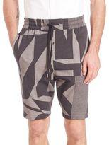 Helmut Lang Printed Drawstring Shorts