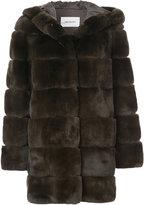 Yves Salomon fur detail coat