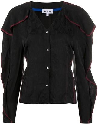 Koché Ruffle-Trimmed Jacquard Shirt