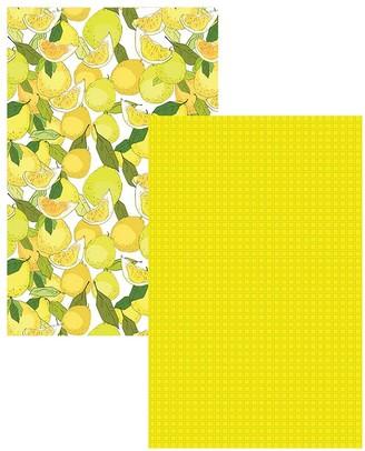 Ambrosia Lemon 2 Piece Cotton Tea Towel Set 50 x 70cm