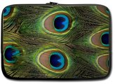 Peacock Feathers Laptop Sleeve Top Sell Peacock Feathers Black Laptop Sleeve Fits Laptop 13 inch/ MacBook Air -Two Sides