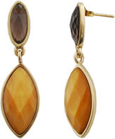 Mother of Pearl FINE JEWELRY Art Smith by BARSE Smoky Quartz & Caramel-Color Mother-Of-Pearl Earrings
