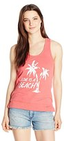 Almost Famous Women's Snow Wash French Terry Tank Top