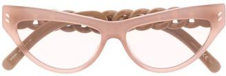Stella McCartney Cat Eye Chain Sunglasses