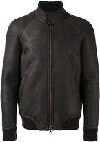 Salvatore Santoro - high neck bomber jacket - men - Leather/Viscose - 52