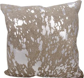 Verlaine Mina Victory Couture Natural Hide Metallic Splash Throw Pillow