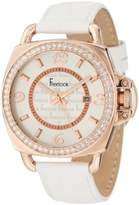 Freelook Unisex HA1093RG-9 White Croco Leather Band with Rose Gold Case Watch