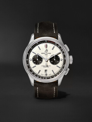 Breitling Premier B01 Automatic Chronograph 42mm Stainless Steel And Nubuck Watch, Ref. No. Ab0118221g1x1