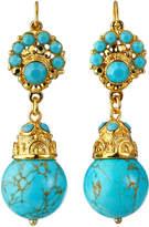 Jose & Maria Barrera Crystal Bead Drop Earrings, Turquoise