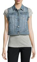 Saks Fifth Avenue Britt Faded Denim Vest