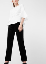 MANGO Cropped Velvet Trousers