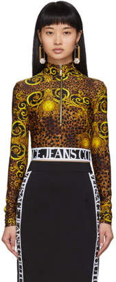 Versace Gold Leopard Baroque Sweatshirt