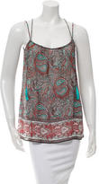 Rachel Zoe Sleeveless Paisley Printed Top
