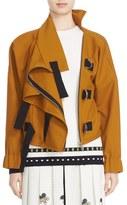 Victoria Beckham Women's Twill Shine Drape Jacket