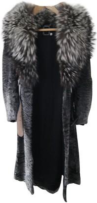 Christian Dior Black Mongolian Lamb Coat for Women
