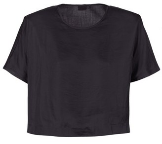 G Star Raw COLLYDE WOVEN TEE women's Blouse in Black