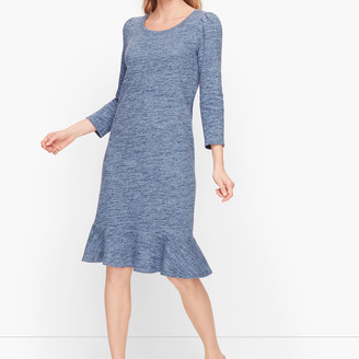 Talbots Terry Flounce Hem Shift Dress