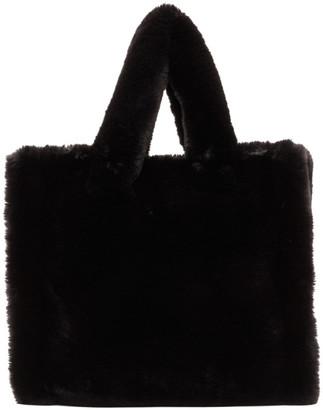 Stand Studio Black Faux-Fur Medium Lolita Tote