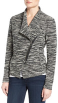 Halogen Asymmetrical Zip Knit Jacket (Regular & Petite)