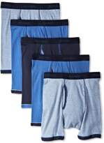 Hanes Men's 5-Pack Ultimate FreshIQ Exposed Waistband Ringer Boxer with ComfortFlex Waistband Brief-Assorted Colors
