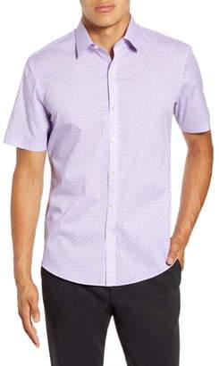Zachary Prell Yule Regular Fit Short-Sleeve Button-Up Sport Shirt