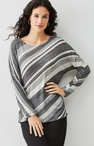 J. Jill Diagonal-Stripe Sweater