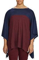 Lauren Ralph Lauren Plus Color-Blocked Silk-Blend Poncho