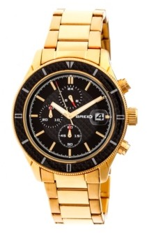 Breed Quartz Maverick Chronograph Gold Alloy Watches 43mm