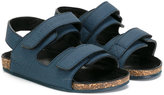 Burberry double strap sandals - kids - Calf Leather/Leather/rubber - 23