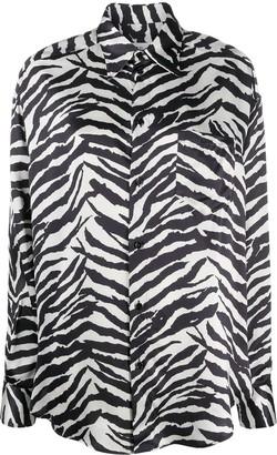 MM6 MAISON MARGIELA Zebra-Print Oversized Shirt