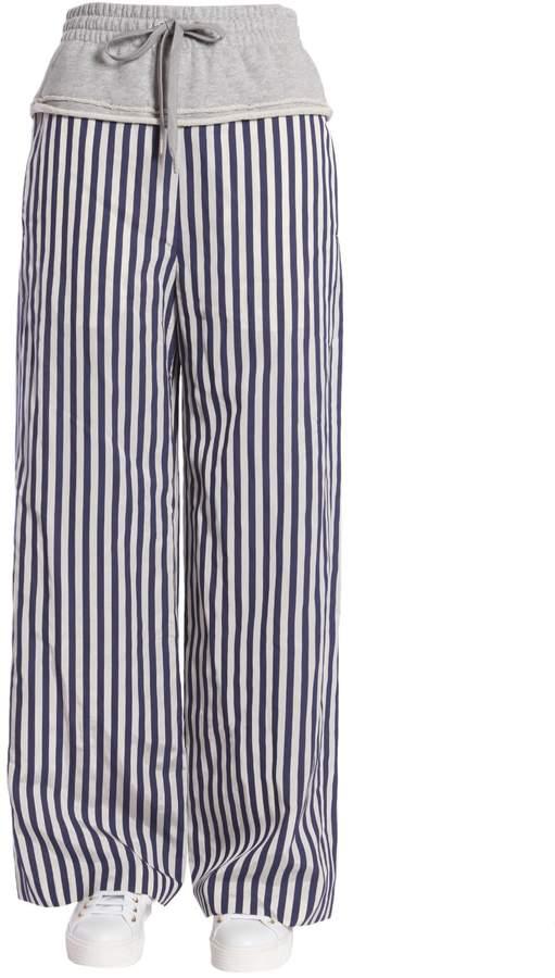 Alexander Wang Striped Wide Leg Trousers