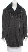 Rag & Bone Leather-Trimmed Wool-Blend Coat