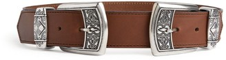 Etro Double Buckle Leather Belt