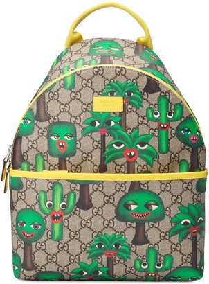 Gucci Children's GG smiling plants backpack