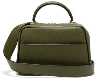 Valextra Serie S Medium Textured-leather Shoulder Bag - Khaki